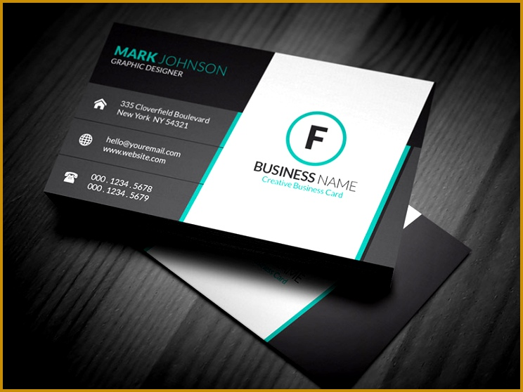stunning corporate business card template 744558