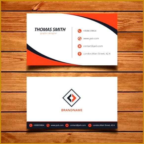orange corporate business card template 582582