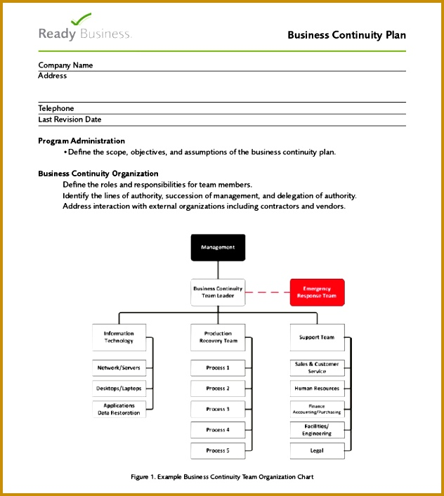 business continuity template business continuity plan template 6 free word pdf documents 632706