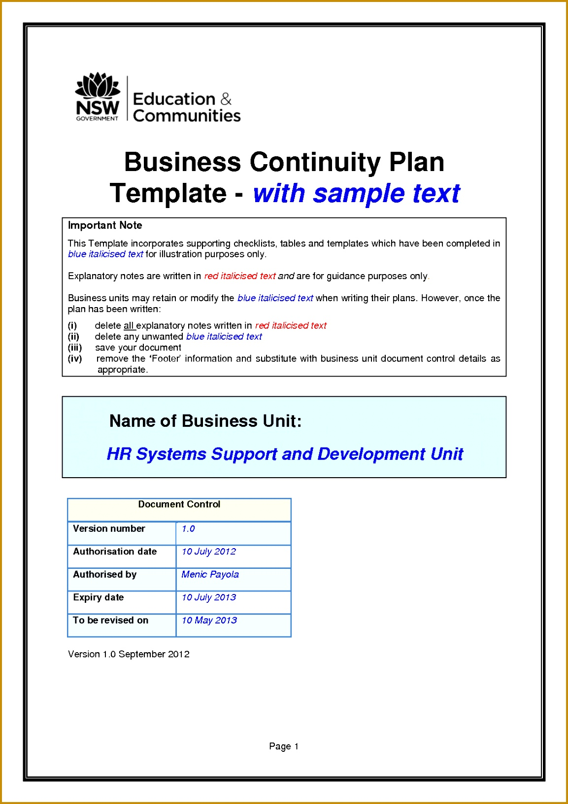 disaster recovery plan template example for small business business continuity plan template 16311153