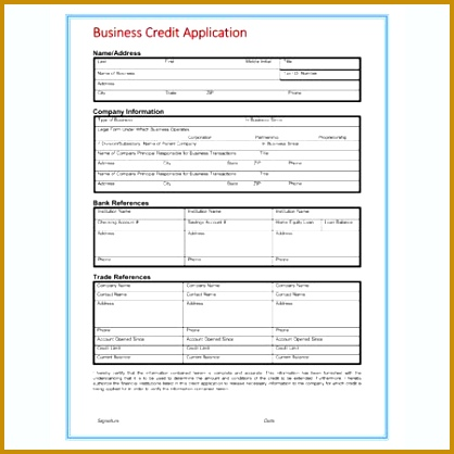 Credit Card Application Form Templates · View 418418