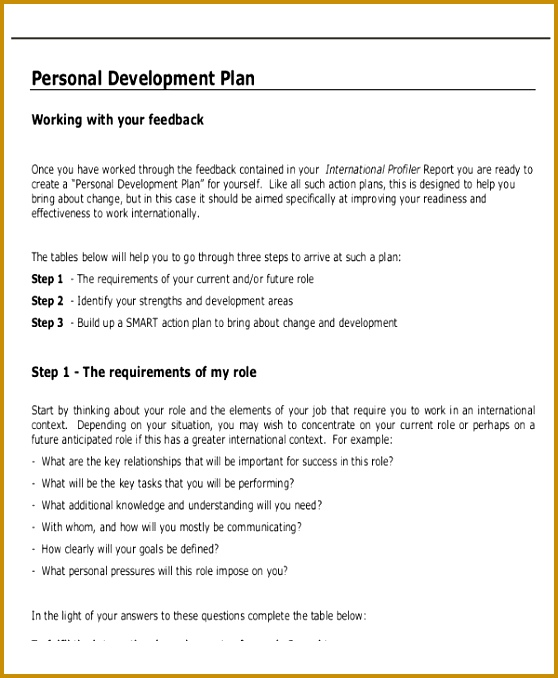 Personal Business Plan Template 678558