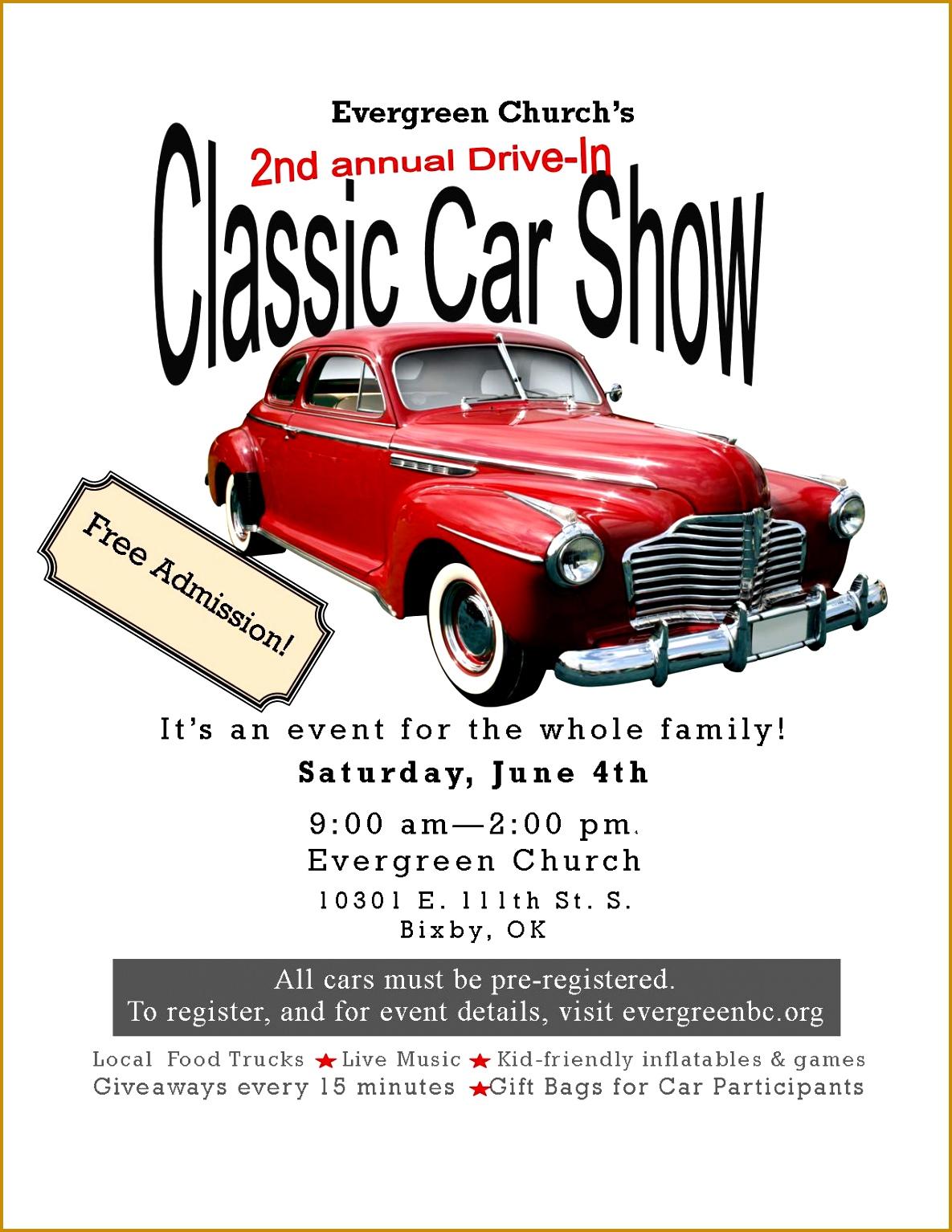 Car Show Flyer Template FabTemplatez - Classic car show poster template