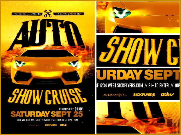 Car Show Flyer Template  Fabtemplatez  Fabtemplatez
