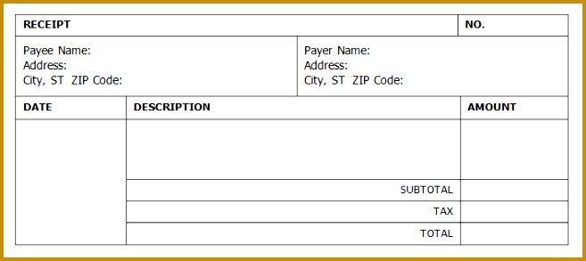cash receipt templates in excel and word 293657