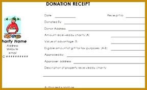 donation receipt template 176288