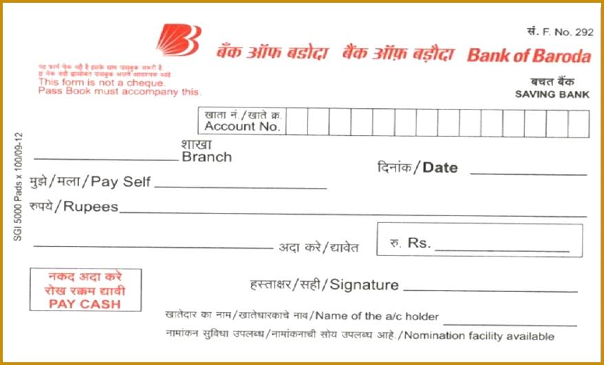 Checks Template Blank Deposit Slip Template Free Checking Deposit Slip Template 530878