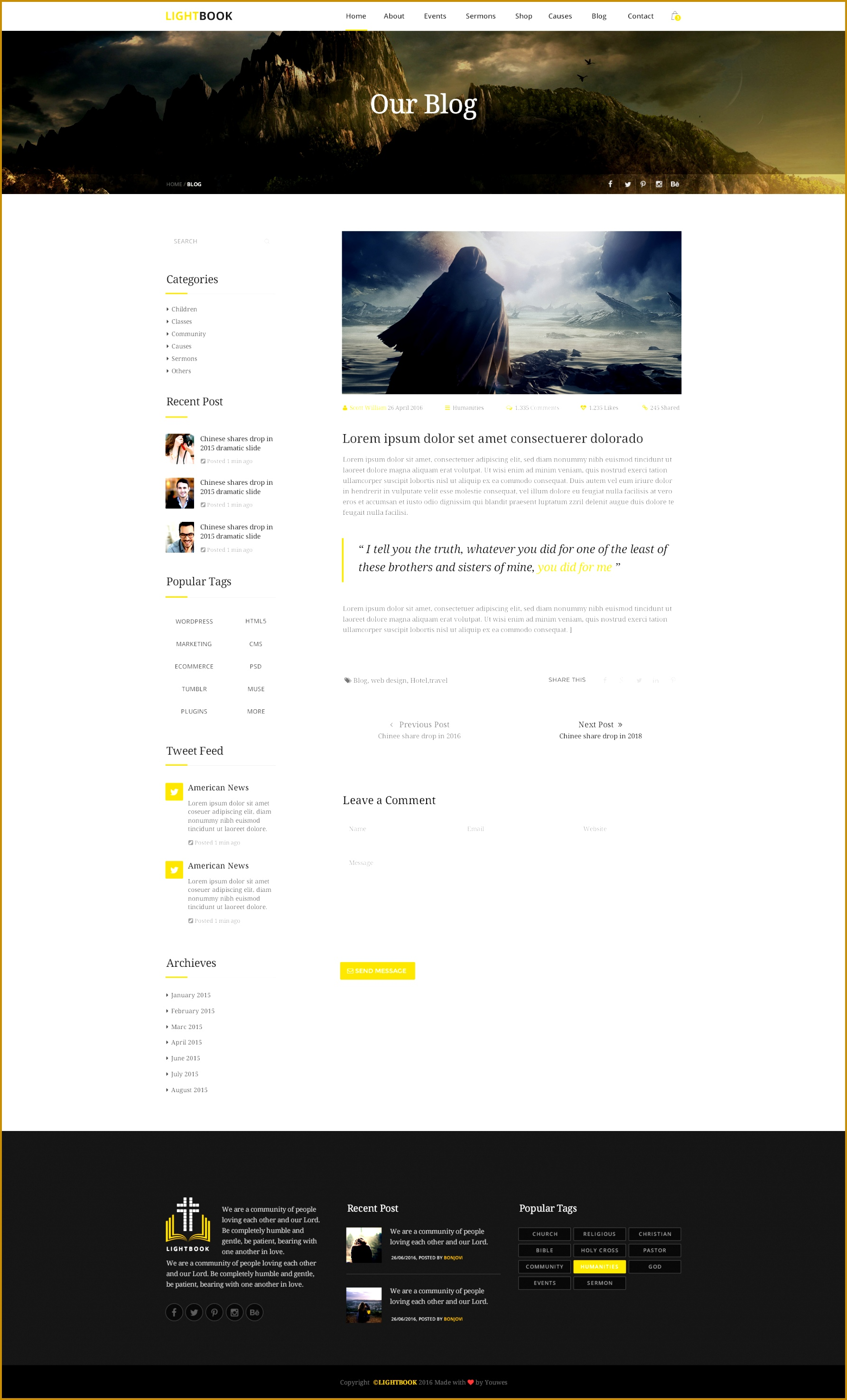 LightBook Church PSD Template By Youwes ThemeForest 7 5 Church Directory Templates Excel 5 Church Directory Templates Excel 17852951