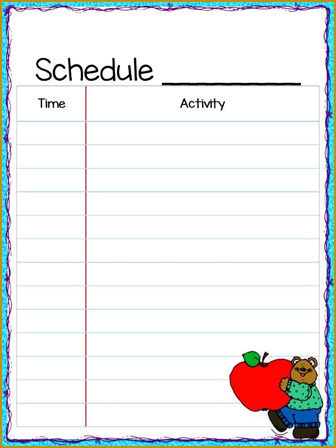 Class Schedule Freebie 892669