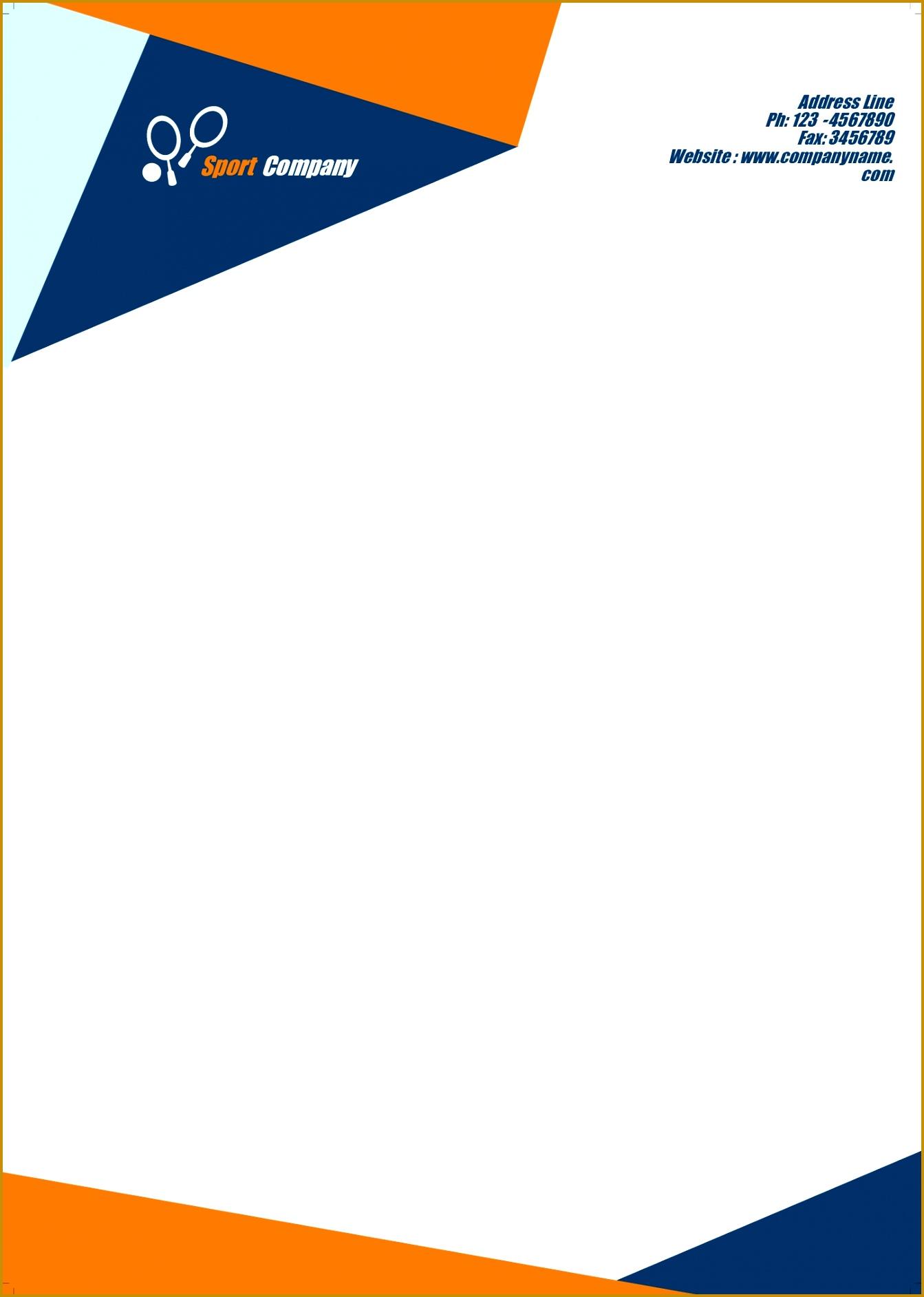 pany letterhead template free 18841343