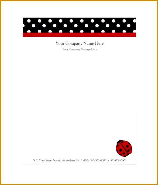sample pany letterhead 635544