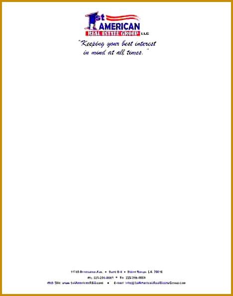 letterhead example 595468