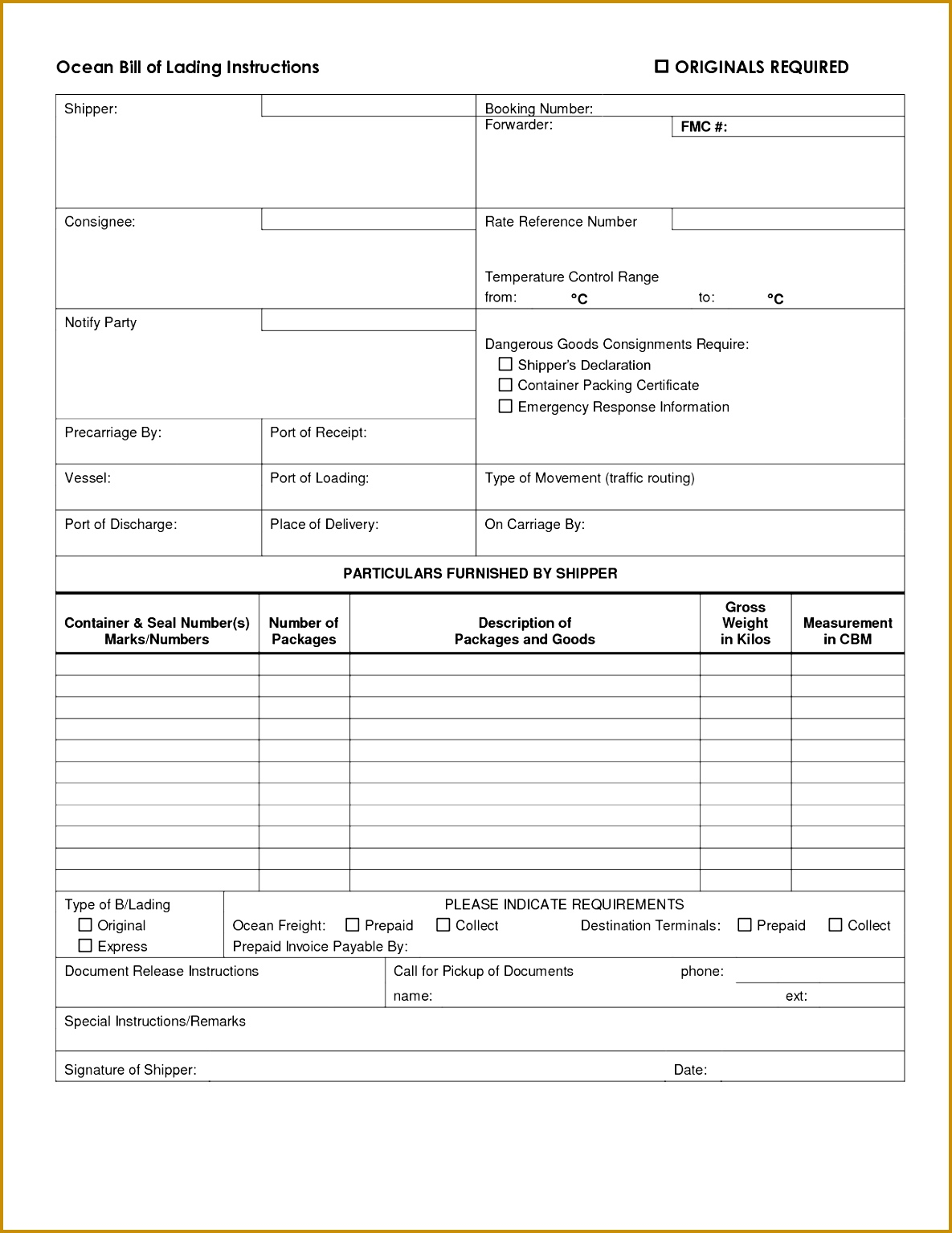 11 Blank Bill Of Lading Custom Invoice Template Consignment Bill Of Lading  Template 61152 Blank Bill Lading Form Template Christmas Menu Word Template  ...  Blank Bill Of Lading Template