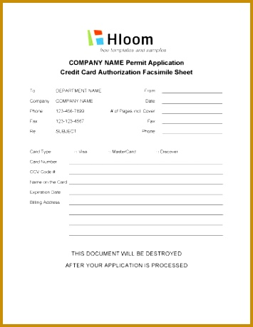 6 Credit Application Template for Credit Card