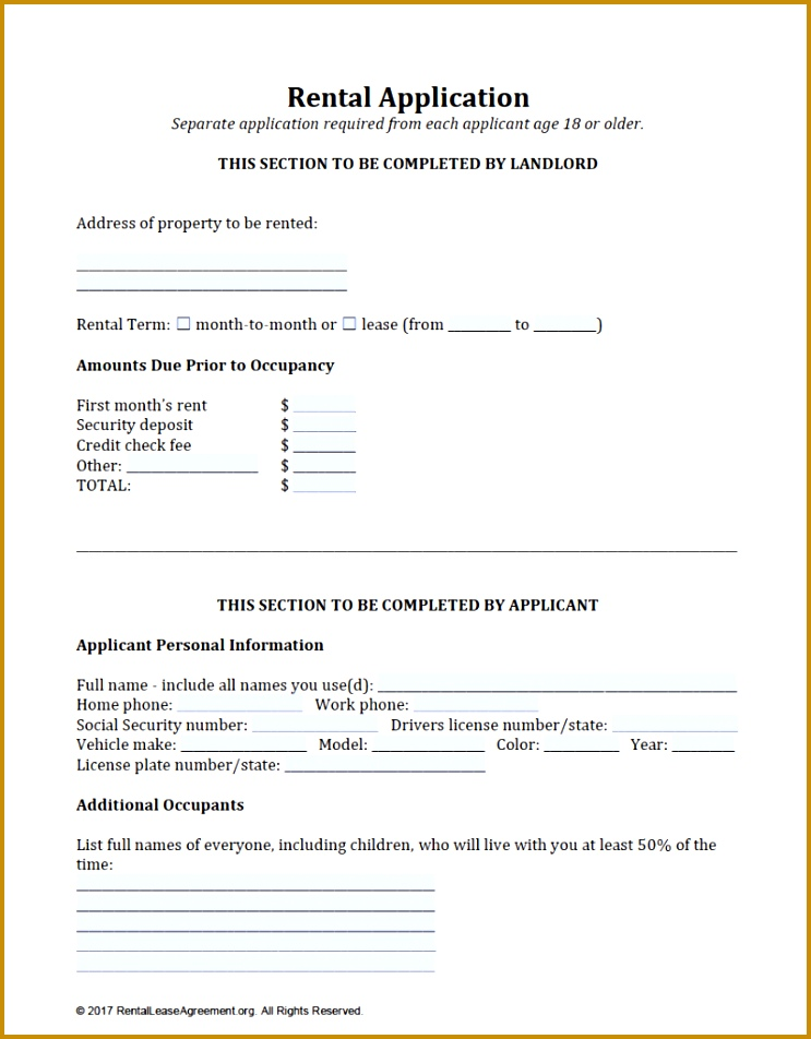 4 Credit Application Template for Personal Use