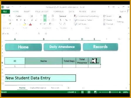 Excel VBA project Project on Daily Attendance Sheet Using Macro Tutorial 1 446334