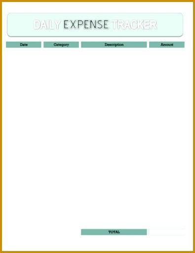 Free Printable Daily Expense Tracker 511395