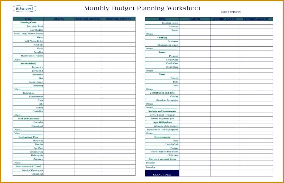 Bud Spreadsheet Template Free Free Simple Bud Worksheet Template Bud Sheet Template Free Printable Daily Bud 616952