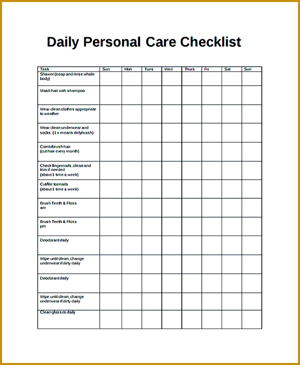 Free Daily Checklist Template and Its Purposes Daily checklist template provides an easy and 726597