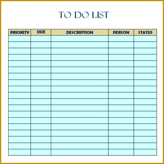 9 Daily Do It Checklist Template