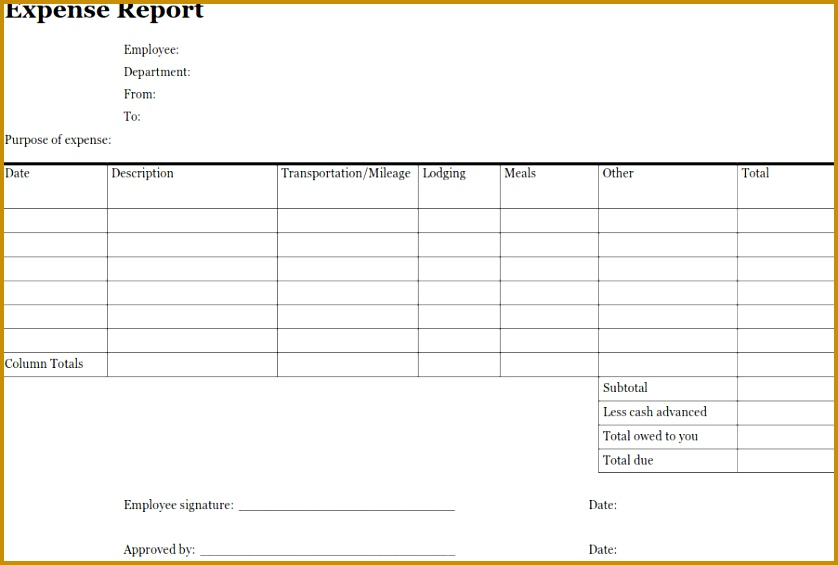 10 Daily Expense Claim form Template | FabTemplatez