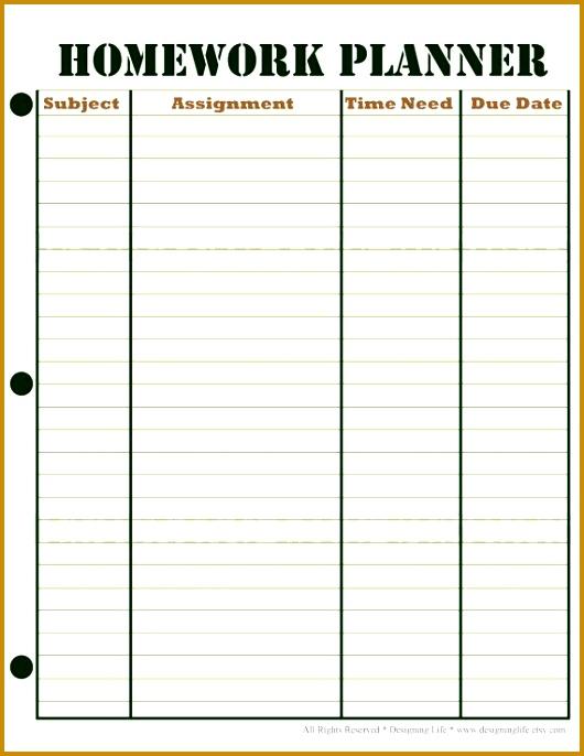 homework schedule 530686