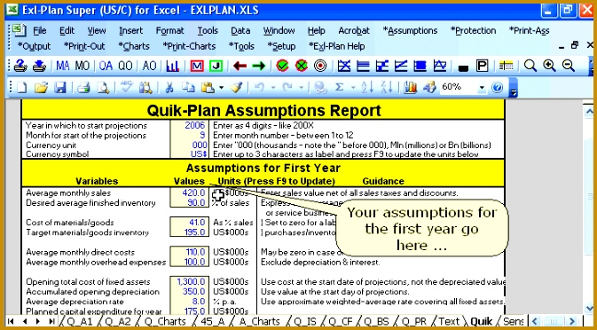 business plan template free excel business plan software template financial projections free 372673
