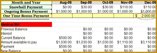 8 Debt Snowball Calculator Template