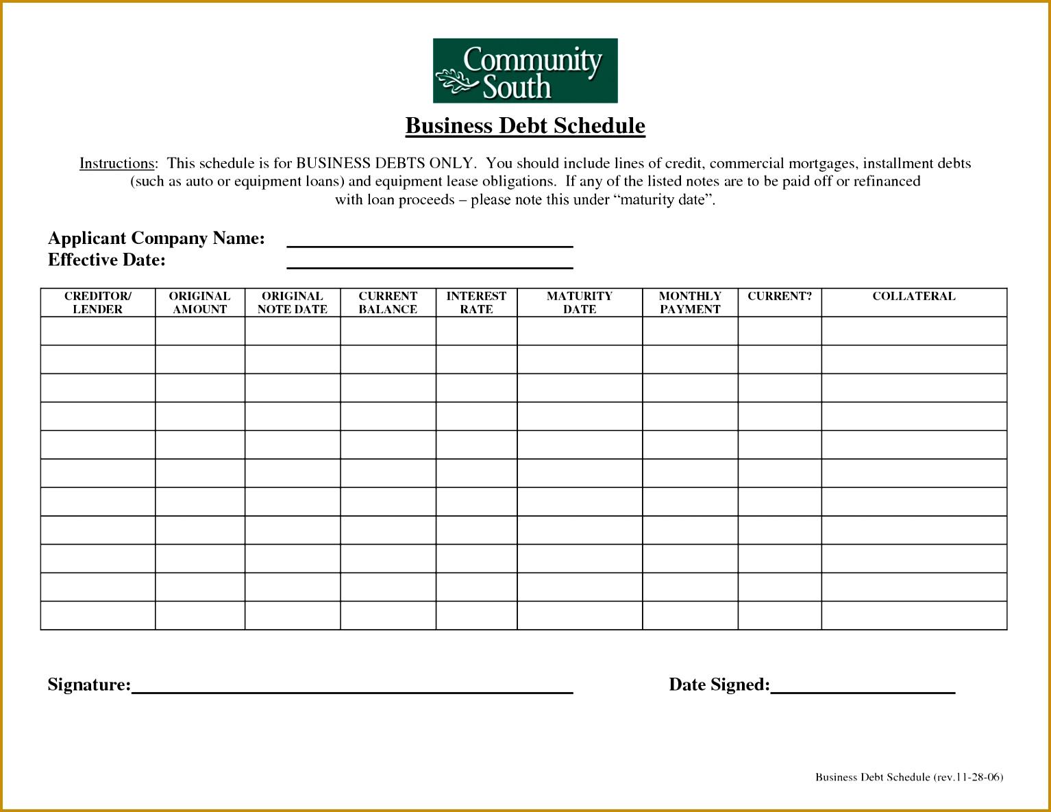 9 Debt Snowball Excel Worksheet Template