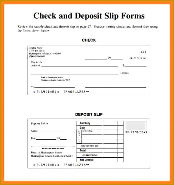 Deposit Slip Template Excel Freeposit Slip Template Excel Free Check Deposit Slip Form Template 604571
