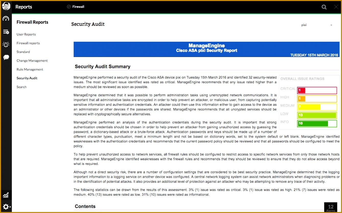 Firewall Security Audit and Configuration Analysis Report 8371339