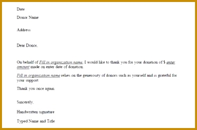 4 Donor Acknowledgment Receipt Template