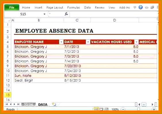 attendance sheet template excel for employee Employee Attendance Template Word 396563