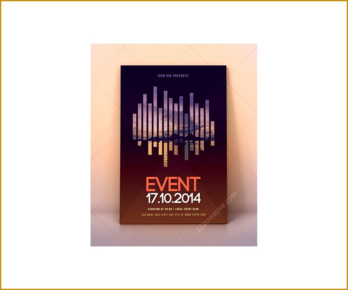 1086 modern event flyer template psd 9301116