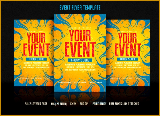event flyers 405558