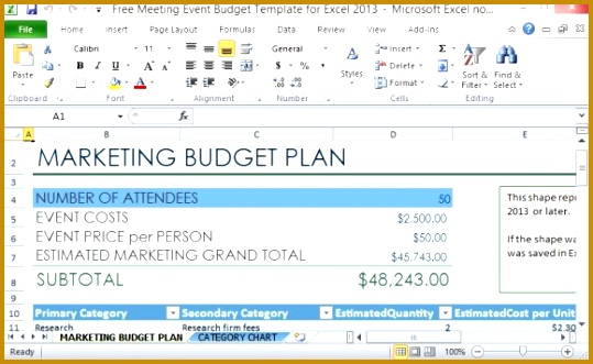 Professionally Designed Marketing Bud Plan The Free Meeting Event Bud Template 331539