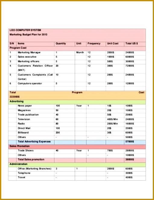 4 event Planning Budget Template | FabTemplatez