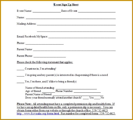 Event Sign Up Sheet Template Word 568513