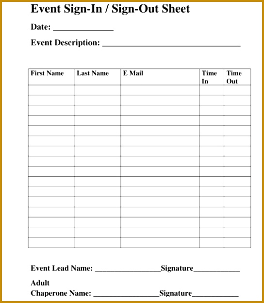 Free Download Event Signup Sheet 624544