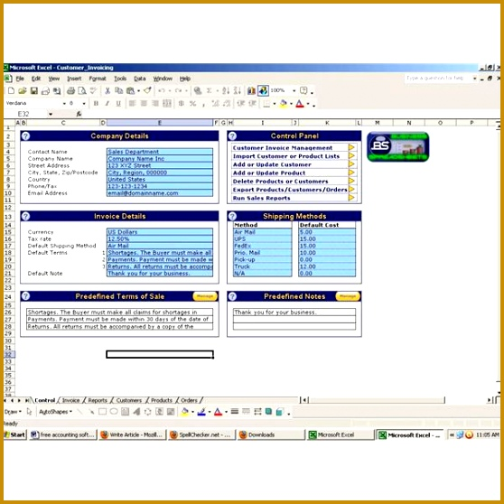 Ozgrid s Free Accounting Software for Excel 558558