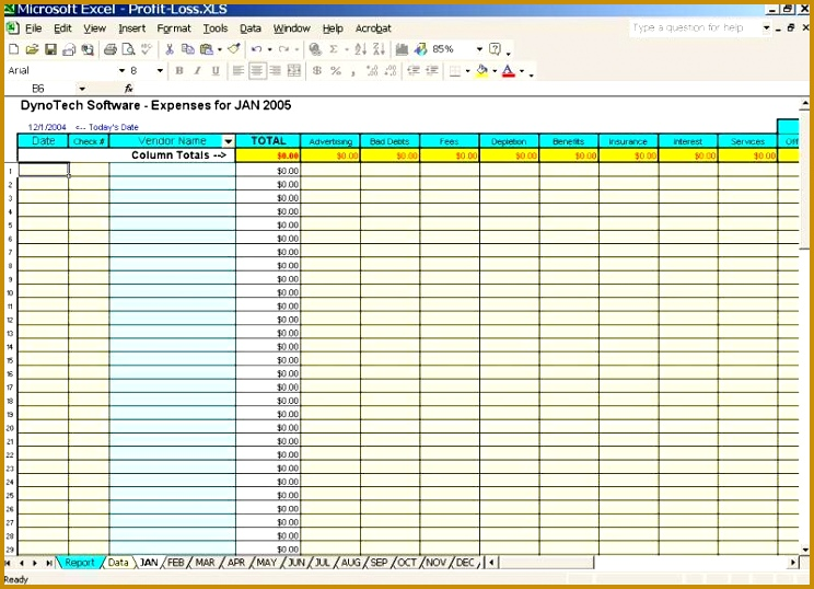 business expense spreadsheet 744538