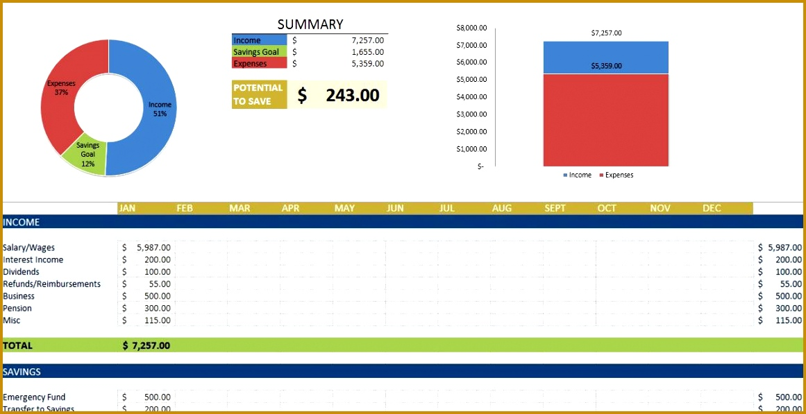 excel expense template 5971161