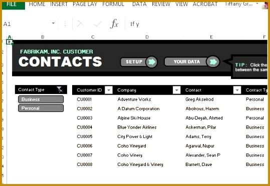 customer contact list template for excel 372539