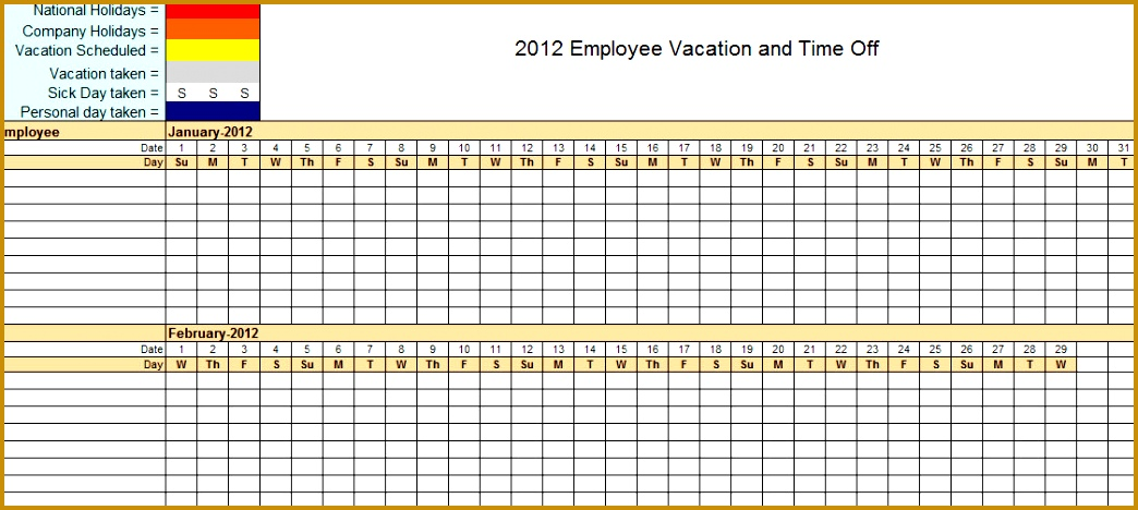 Employee Leave Tracker Excel Template Employee Training Template Excel 1044468
