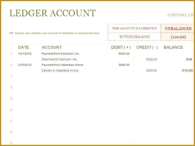Monthly Pay ledger Template in Excel Format 513684