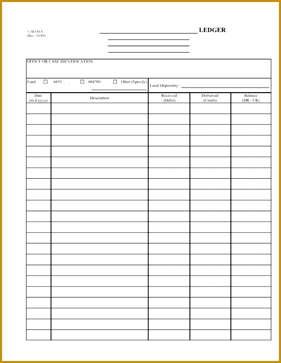 General Ledger Template Excel Business Ledger Excel 725561