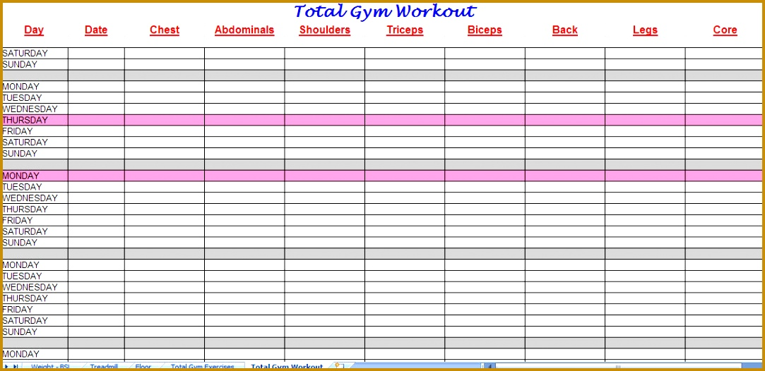 total gym workout plan 1083526