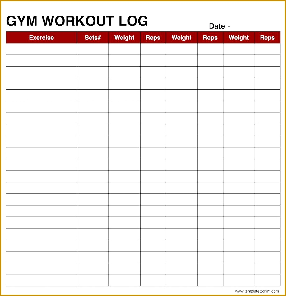 workout log template excel 952920