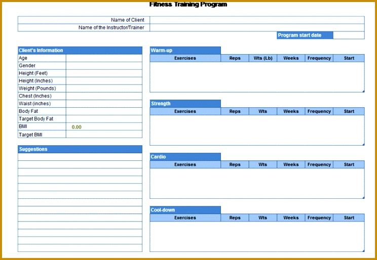 Exercise planner 514744