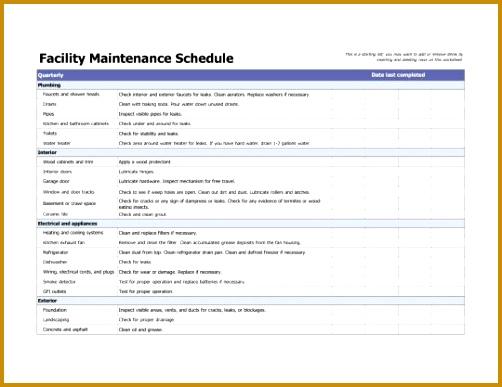 7 Facility Maintenance Checklist Template   FabTemplatez